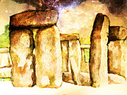 New Britain Painting Posters - The Henge Poster by Carole-Ann Ricketts