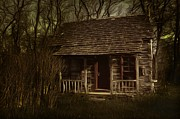 Indiana Scenes Prints - The Hermits Cabin Print by Julie Dant