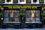 Hiding Prints - The hiding from the wife pub Print by David Pyatt