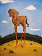 Beer Oil Paintings - The High Horse by Tia