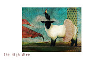 Surreal Art Mixed Media Framed Prints - The High Wire Framed Print by Katherine DuBose Fuerst