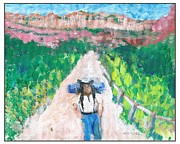 Hiker Paintings - The Hiker by Joseph Wetzel