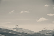 Turbines Art - The Hills by Laurie Search