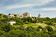 Hilltop Scenes Framed Prints - The hilltop town of Gramont Tarn et Garonne France Europe Framed Print by Jon Boyes
