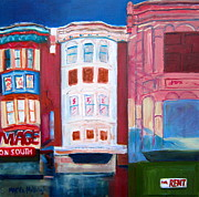 Philadelphia Scene Paintings - The Hippest Street In Town by Marita McVeigh