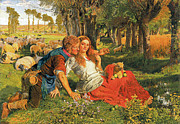 With Love Framed Prints - The Hireling Shepherd Framed Print by William Holman Hunt