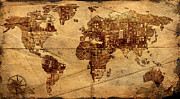 Antique Map Digital Art - The History of Possibility  by David Brown