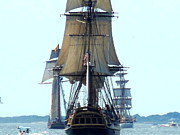 Tall Ships Prints - The HMS Bounty Print by Marie Sager