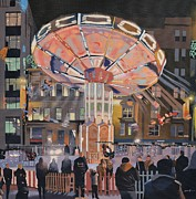 Scottish Art Originals - The Holiday Fair by Malcolm Warrilow