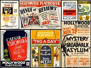Broadway Musical Revue Prints - The Hollywood Playhouse Poster Art of the 1930s and 1940s Print by Don Struke