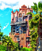 Cinderella Photographs Posters - The Hollywood Tower Hotel Walt Disney World Poster by Thomas Woolworth