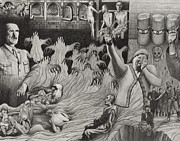 Slaves Drawings - The Holocaust by Dennis Nadeau