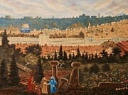 Jerusalem Paintings - The Holy City by Gabriel Cajina