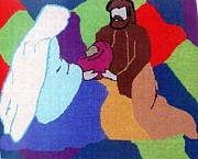 Holy Tapestries - Textiles - The Holy Family by Mona  Bernhardt-Lorinczi
