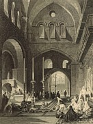 Tomb Drawings - The Holy Sepulchre 1886 Engraving by Antique Engravings
