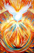 Lama Painting Framed Prints - The Holy Spirit Within Framed Print by Sister Rebecca Shinas