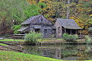Historic Mill Framed Prints - The Homestead Country Living Framed Print by Paul Ward