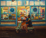 Scooter Paintings - The Honeymoon by Jeanne Young