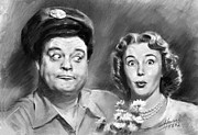 Sitcom Posters - The Honeymooners Poster by Viola El