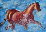 Ion Vincent Danu Metal Prints - The Horse and the Sea Metal Print by Ion vincent DAnu