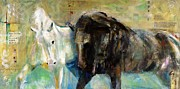 Abstract Horse Paintings - The Horse As Art by Frances Marino