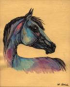 Horse Drawings - The Horse Portrait 1 by Angel  Tarantella