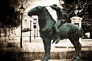 Austria Digital Art Posters - The Horseman Poster by Mary Machare