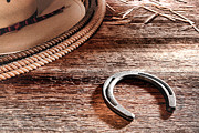 Cowboy Gear Prints - The Horseshoe Print by Olivier Le Queinec