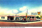 Service Station Paintings - The Horseshoe Service Station In Mesa Az Around 1950 by Dwight Goss