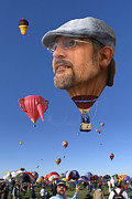Hot Air Balloon Digital Art Prints - The Hot Air Surprise Print by Mike McGlothlen