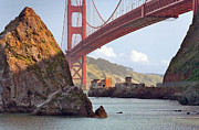 Daniel Furon Prints - The House Below The Golden Gate Bridge Print by Daniel Furon