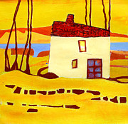 Agnes Trachet Prints - The House By The River Print by Agnes Trachet