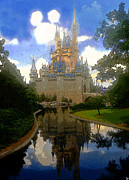 Disney World Framed Prints - The House of Cinderella Framed Print by David Lee Thompson