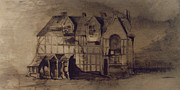 Atmospheric Drawings Prints - The House of William Shakespeare Print by Victor Hugo