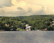 Lake Scene Prints - The Houses of Pickwick III  Print by Jai Johnson
