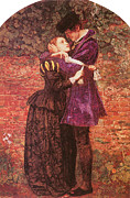 Couple In Love Paintings - The Huguenot by Sir John Everett Millais
