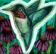 Hummingbird Prints Prints - The Hummingbird 2 Print by Genevieve Esson