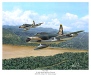 Hoa Framed Prints - The Hun - F-100 Super Sabres in Vietnam Framed Print by Mark Karvon