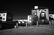 Irish Artists Prints - The Hunger Strike Raymond McCartney Mural part of the peoples gallery murals in Rossville Street of the bogside area of Derry Londonderry Print by Joe Fox
