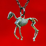 Horse Necklace Jewelry - The Hungry Horse by Michael  Doyle