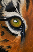 Oil On Canvas Paintings - The Hunters Eye by Alex Rios