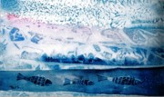 Layer Painting Prints - The Iceage cometh  Print by Trudi Doyle