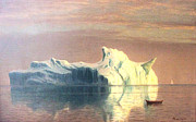 Bierstadt Prints - The Iceberg Print by Albert Bierstadt
