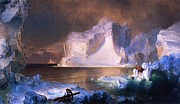 Church Prints Paintings - The Icebergs by Pg Reproductions