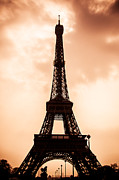 Eiffel Tower Art - The Iconic Tower by Nila Newsom