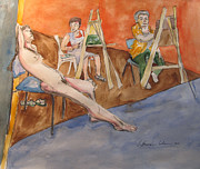 Live Painting Originals - The Ideal of Beauty by Esther Newman-Cohen
