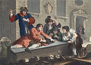 The Idle Prentice At Play In The Church Print by William Hogarth