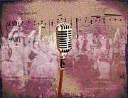 Microphone Digital Art Prints - The Idol Print by Bill Cannon