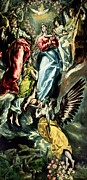 Heavenly Angels Paintings - The Immaculate Conception by El Greco Domenico Theotocopuli