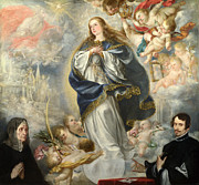 Famous Artists - The Immaculate Conception with Two Donors by Juan de Valdes Leal